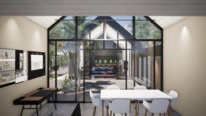Bureau et patio
